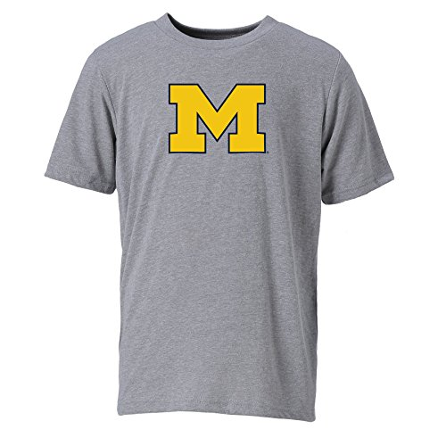 S/s Performance-t-stücke (Ouray Sportswear NCAA Michigan Wolverines Youth Unisex Youth Vintage Sheer S/T, X-Large, Dark Grey Heather)
