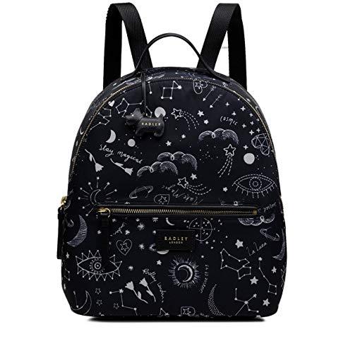Radley Cosmic Love Rucksack mit Reißverschluss, mittelgroß, Schwarz