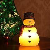 Vela de Navidad decoración luz muñeco de nieve formte LED sin llama luces batería operativos Altura 15,5cm