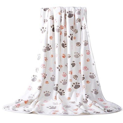Allisandro warme und weiche Decke für Haustier wie z. B. Hunde oder Katzen, aus Korallen-Vlies, Beige, L - 5