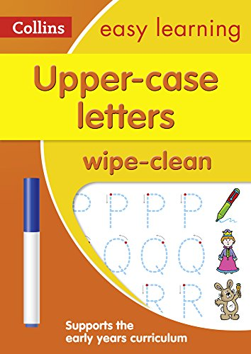 Collins Easy Learning Preschool – Upper Case Letters Age 3-5 Wipe Clean Activity Book