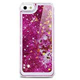 Best EVERMARKET iPhone 5 Cases - EVERMARKET Purple Sparkly Flowing Liquid Water Bling Glitter Review
