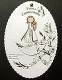 Cartotecnica Italiana Inviti Prima Comunione Femminili Made in Italy cod. 87727 Set Composto da 10 inviti + 10 Biglietti Bomboniera in Omaggio.