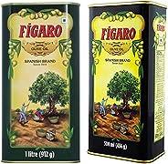 Figaro Olive Oil Tin, 1L + Figaro Olive Oil Tin, 500ml
