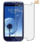 SHOP OF ACCESSORIES® - * PACK OF 5 * Screen Protector For Samsung Galaxy S3 SIII i9300