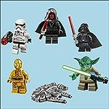 Bespoke Graphics Star Wars Lego Herren Schlafzimmer Full Farbe Wandtattoo Übertragung Einzelne Oder Alle 6, All 6 Starwars Lego Men Designs, Medium 29cm High
