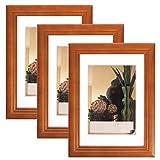 3er Set Bilderrahmen Fotogalerie, 9433-3 , Holz Rahmen , mit Glasscheibe , mit Passepartout, Artos Schwarz, 20x30 cm