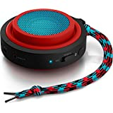 Philips BT2000R/00 - Altavoz portátil con Bluetooth (2 Watt, batería integrada (12h), plegable), color rojo