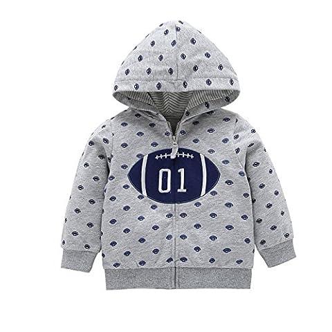 Babykleidung,GUT® Baby Boy Jungen Mädchen Neugeborene Hoodies Mantel Dicke Tops Kinder Carter Stil Oberbekleidung für 0-24 Monate (0-6M,