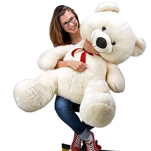 Nounours peluche ours géant XL Teddy Bear blanc 4250525310993