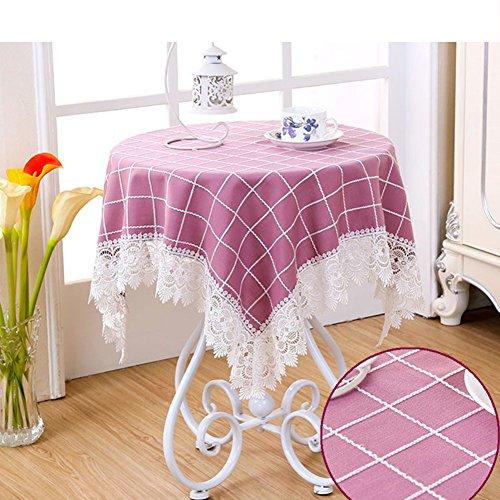 80 ' S Tee (DW&HX Blended Spitze Quadratische Runde Tischdecken,Abwischen Spritzwassergeschützte Schmutzabweisend Tischtuch Nachttisch Tee-S 80x80cm(31x31inch))