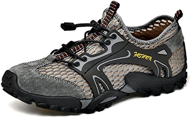 Oxford Schuhe Mens Wasserdichte Wanderschuhe Schnell Trocknende Wanderschuhe Wildleder Mesh Außenmaterial Outdoor Schuhe