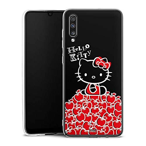 DeinDesign Hülle kompatibel mit Samsung Galaxy A70 Handyhülle Case Hello Kitty Merchandise Fanartikel Black