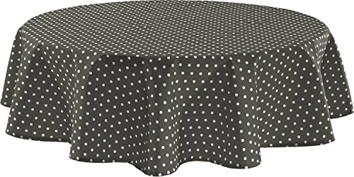 REDBEST Tischdecke grau Größe oval: 140x190 cm