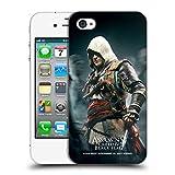 Head Case Designs Offizielle Assassin's Creed Edward Menschenmenge Schwarze Fahne Schluessel Kunst Ruckseite Hülle für iPhone 4 / iPhone 4S