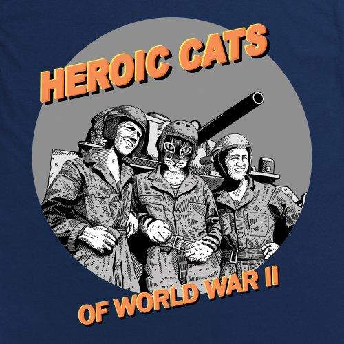 Heroic Cats T-Shirt, Damen Dunkelblau
