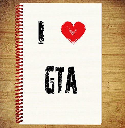 I Love Gta regalo–A5espiral Bound Notebook