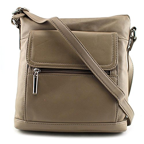 giani-bernini-front-zip-crossbody-damen-metallische
