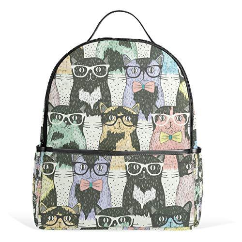 Rucksack mit Sonnenbrille, Segeltuch, große Kapazität, lässiger Reise-Tagesrucksack für Kinder, Mädchen, Jungen, Kinder, Studenten, 3-9 Jahre alt