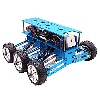 LDB SHOP 6WD Off-Road Robot Kit Programmable with Camera for Arduino UNO Programming Electronic Toy DIY Robot Kit