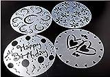 asentechuk® 4pcs/set DIY molde de tarta de cumpleaños