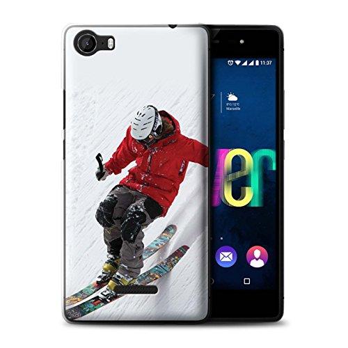 Stuff4® Hülle/Case für Wiko Fever 4G / Steil Steigung Muster/Skifahren/Snowboard Kollektion