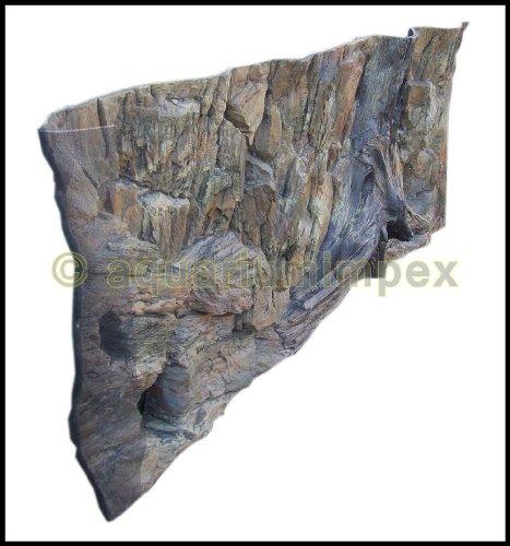 3D Aquarien Rückwand 120×60 Fels mit Wurzel - 3