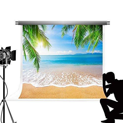 Strand 3x3m Blau Hintergrund Beach Fotohintergrund Botostudio Sommerferien Thema Fotografie Photo Booth ()