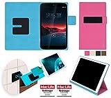 reboon Custodia per Vodafone Smart Tab 4G   in Rosa   Cover Case Caso Multifunzionale