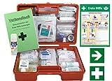 Erste-Hilfe-Koffer M5 PLUS für Betriebe DIN 13157 / EN 13157 Stand 2017 - Komplett-Paket incl....