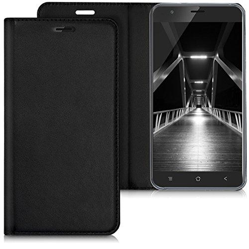 kwmobile Blackview E7 / E7s Hülle - Kunstleder Handy Schutzhülle - Flip Cover Case für Blackview E7 / E7s