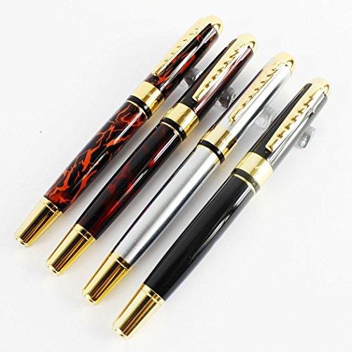 Pluma Estilográfica, 4 Pcs Pluma de Metal 250 Boligrafo Lápiz elegante,Buen Regalo para niños y Adultos,color Aleatorio