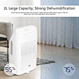 Amzdeal Air Dehumidifier, 2000ml Portable Electric Dehumidifiers, Damp Absorber for Home, Bedroom, Wardrobe, Living Room, Office