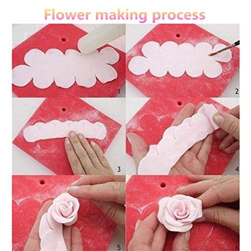 Shenlu 9 Unids Cortadores Sugarcraft 3D Rosas Claveles Peonía Pétalo Cortador de Pastel Flor Fondant Icing Tool Decorating Mould DIY Accesorios Para Hornear Molde