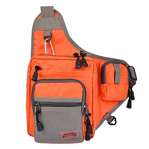 MadBite Slingback Angeln Backpack Weiche Fishing Tackle Bag gibt Surf Fischerei und der Bank Fishing Anglers Leicht Portable Storage - Groß als Tragetasche und Tragebeutel (Orange)