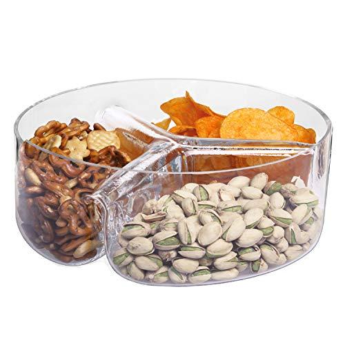 ser Antipasti Snack-Teller Schale | 80 mm Hoch & 240 mm Durchmesser | DREI Fächer | Sweet & Savoury Kollektion | Perfekt für Zuhause, Restaurants und Partys | Spülmaschinenfest ()