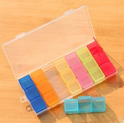 He Dispensing Medicine Box Plastic Travel Sieben Tage Portable Dispenser 21 Zellen Portable Mini Pill Box Eine Woche Aufbewahrungsbox (Wand-dispenser)