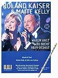 ROLAND KAISER & MAITE KELLY Warum hast du nicht Nein gesagt –mit praktischem Bleistift [Klaviernoten/sheet music]
