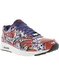 Nike Air Max 1 Wmns Ultra LOTC Qs, Londres-Floral de tinta / tinta blanca cima-equipo Red, 8,5 nosot