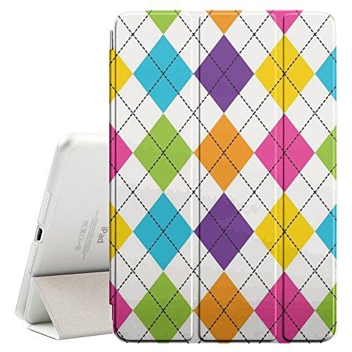FJCases Argyle Muster (Regenbogen) Smart Cover Tablet-Schutzhülle Hülle Tasche + Auto aufwachen/Schlaf Funktion für Apple iPad Air 2 Argyle-cover