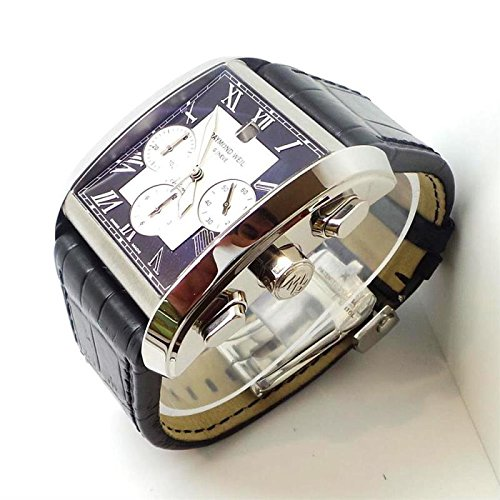 raymond-weil-don-giovanni-4878-stc-00268-automatik-uhr-stahl-quandrante-schwarz-armband-leder