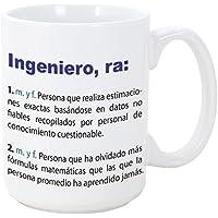 Tazas desayuno originales de profesiones para regalar a trabajadores - MUGFFINS - Tazas para ingenieros - Tazas con frases y mensajes alegres y divertidos