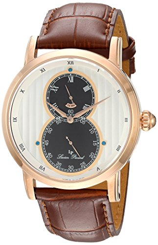 Lucien Piccard Men's Analogue Quartz Watch with Leather Strap LP-40044-RG-02S