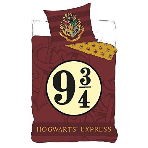 Juego de cama Harry Potter - Funda de edredón 140 x 200 cm funda de almohada 63 x 63 cm