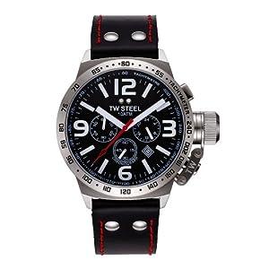 Reloj de caballero TW Steel Canteen Style TW-11 de cuarzo, correa de oro color negro de TW Steel