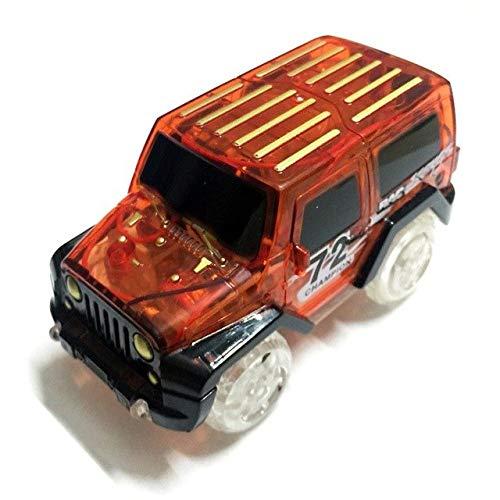 Preisvergleich Produktbild XuBa LED-Beleuchtung Autos für Glühen,  Rennstrecken,  Elektronik-Auto-Spielzeug mit blinkenden Lichtern,  Autos für Kindermaschinen,  DIY Fancy Track Parts Auto rot