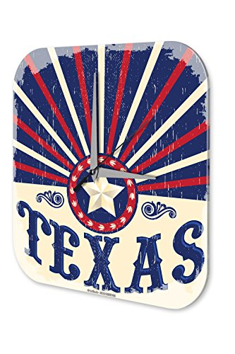 Wanduhr Weltenbummler Texas Dekouhr Vintage Retro