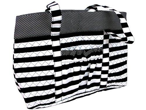 Darice Fashion Bags Tote Schwarz/Weiß