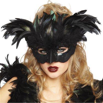 Raven Fantasy Masquerade Maske - Erwachsene Silvester Weihnachten Maske - One (Maske Raven)