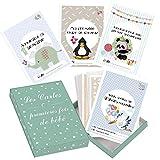 Passez la souris sur l'image pour zoomer Cartes premières fois de bébé et coffret souvenir (français) - 50 milestone cartes photos unisexe - futures mamans et par âge - Idéal pour une
